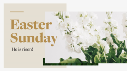 Happy Easter sunday he is risen! 16x9 PowerPoint Photoshop image