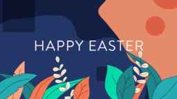 Happy Easter 16x9 PowerPoint Photoshop image