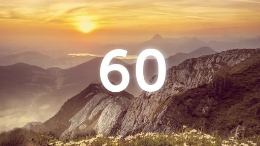 He is Risen: Mountains - Countdown 1 min