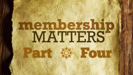 Membership Matters Part -4 Covenant