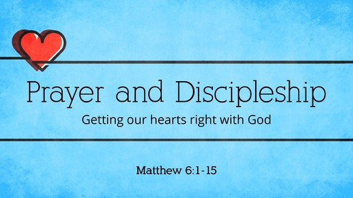 God's health plan:  Prayer and Discipleship