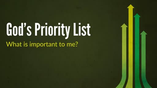 God's Priority List