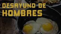 Men's Breakfast  Eggs desayuno de hombres 16x9 PowerPoint Photoshop image