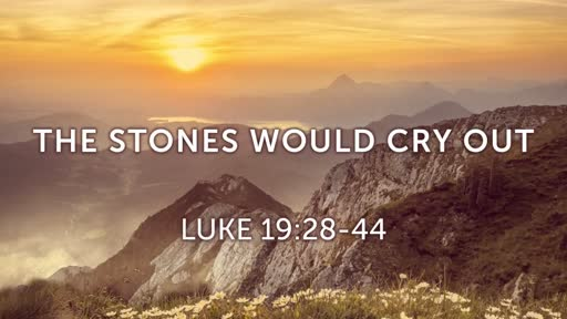 The Stones Would Cry Out (Luke 19:28-44)
