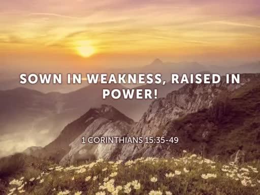 Sown in Weakness, Raised in Power