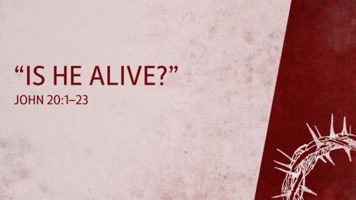 """Is He Alive?""   John 20:1–23"