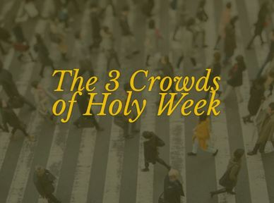 The 3 Crowds of Holy Week