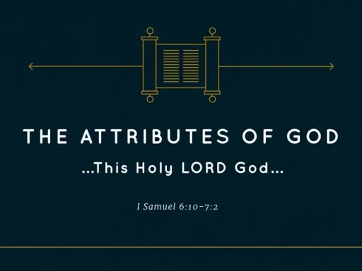 Apr 8st , 2018 AM Pastor Jackson The Attributes of God