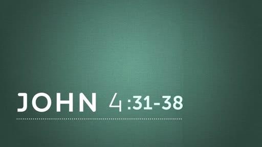 John 4:31-38  : 04-15-2018 Sunday