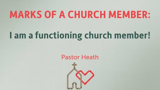 I am a functioning church member!