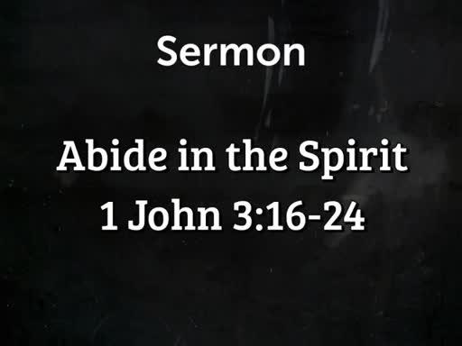 Abide in the Spirit
