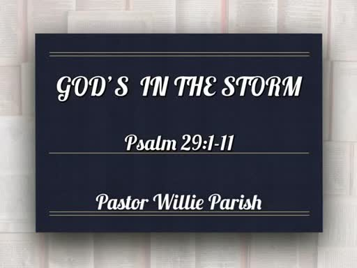 GOD'S IN THE STORM