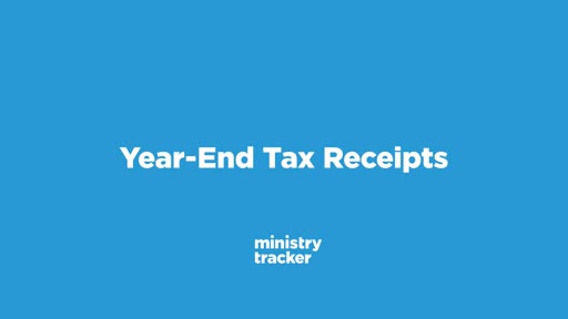 Year End Tax Receipts