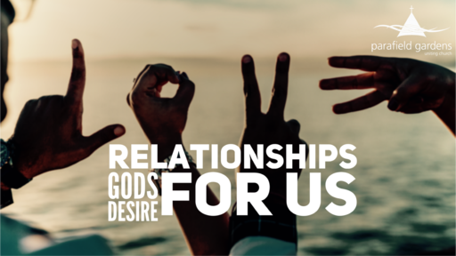 Sunday 29th  April Morning - Relationships: God's desire for us