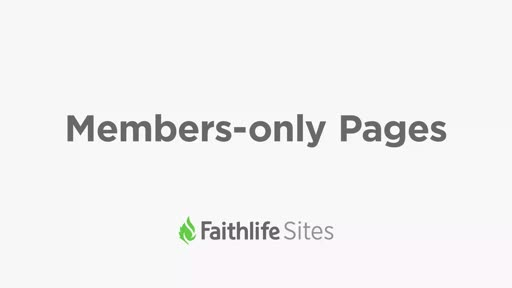 Members-only Pages