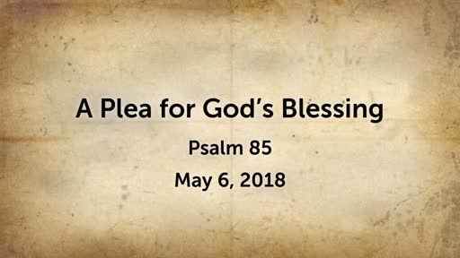 A Plea for God's Blessing