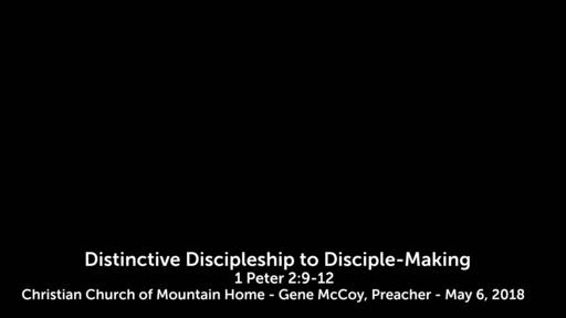 Distinctive Discipleship to Make Disciples