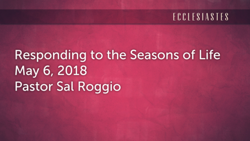 Responding to the Seasons of Life