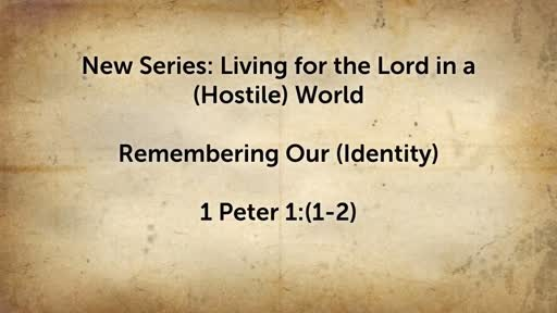 Living for the Lord in a Hostile World