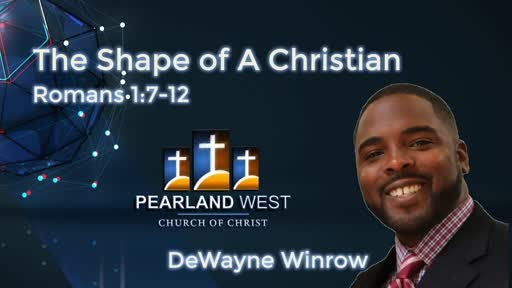 The Shape of A Christian (D. Winrow) AM 5 6 18 AM