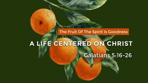 The Fruit of the Spirit is Goodness