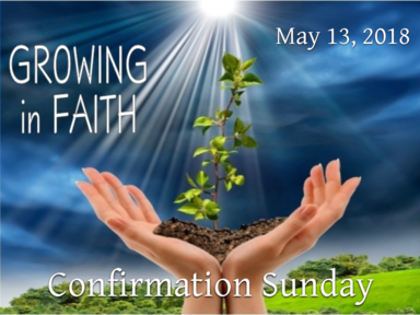 May 13, 2018 - Confirmation Service