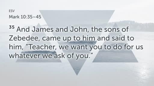 """""""Temptations Abound"""" - Mark 10:35-45"""