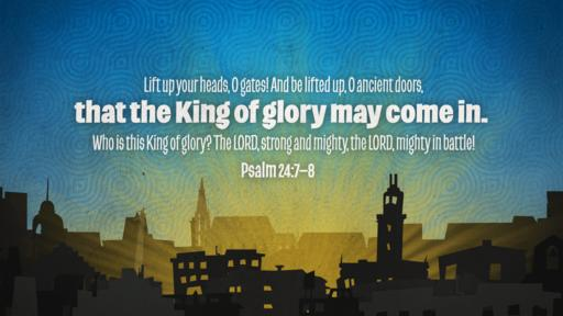 Psalm 24:7–8 verse of the day image