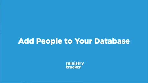 Add People to Your Database