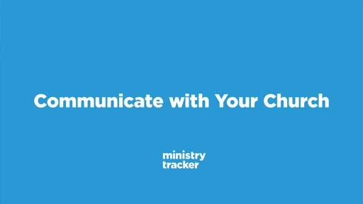 Communicate With Your Church