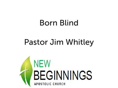 Born Blind Sun 05-20