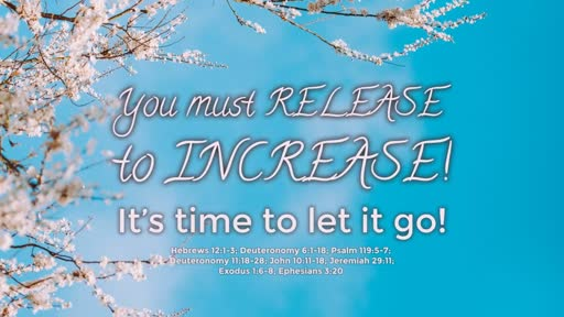 Your Must RELEASE to INCREASE