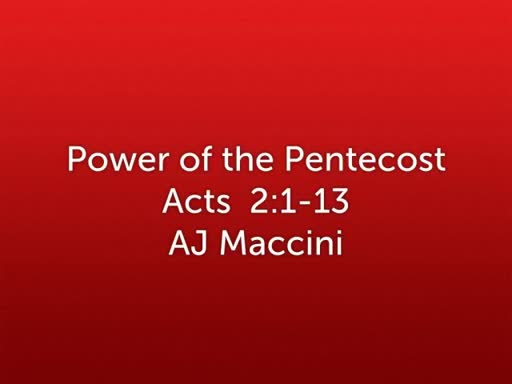 Power of the Pentecost