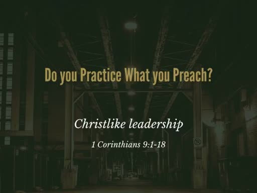 1 Corinthians 9:1-18