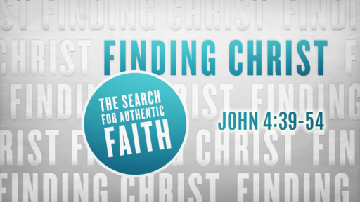 Finding Christ: The Search for Authentic Faith