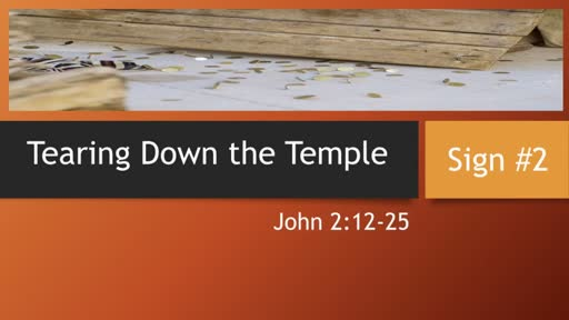 Tearing Down the Temple