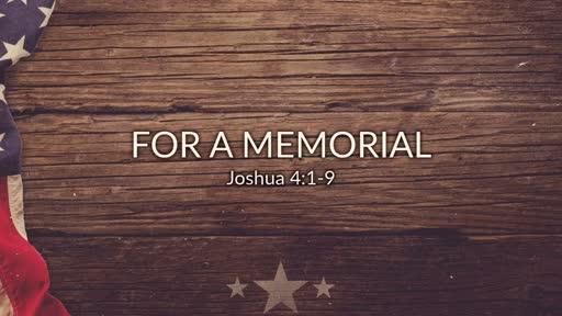 For a Memorial 5.27.18
