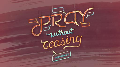 1 Thessalonians 5:17 verse of the day image