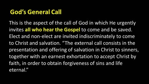 06/03/18 - God's General Call