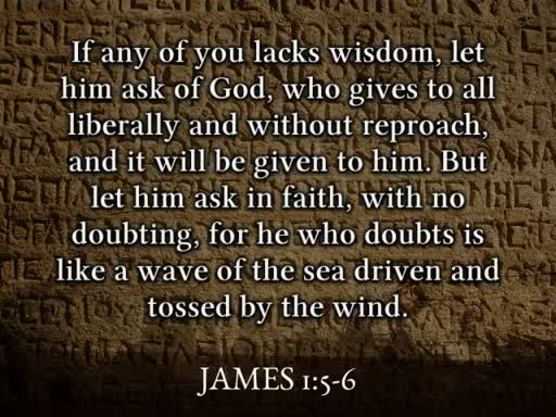 Wisdom in prayer