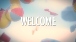 Beach Ball welcome 16x9 PowerPoint Photoshop image