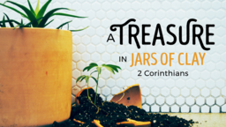 A Treasure in Jars of Clay 16x9 PowerPoint Photoshop image