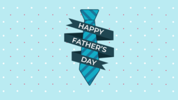 Father's Day Tie happy 16x9 PowerPoint Photoshop image