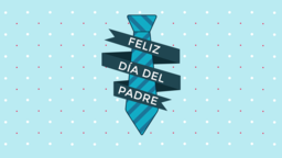 Father's Day Tie feliz día del padre 16x9 PowerPoint Photoshop image