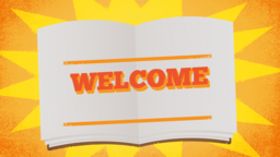 Big Story Book welcome 16x9 PowerPoint Photoshop image