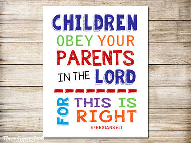 Ephesians 6:1-3 Children/Parents
