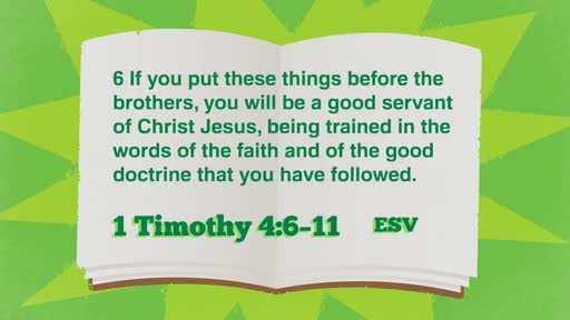 Paying It Forward - 1 Timothy 4:6-16