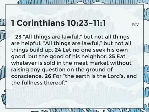 1 Corinthians 10:23-11:1
