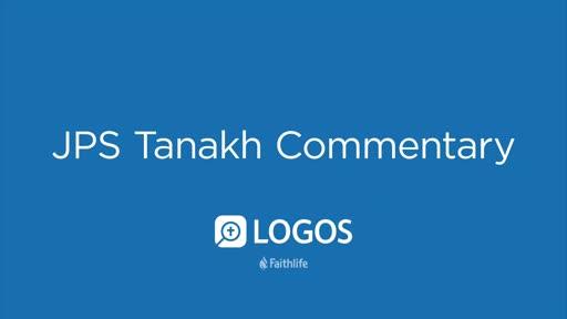 JPS Tanakh Commentary