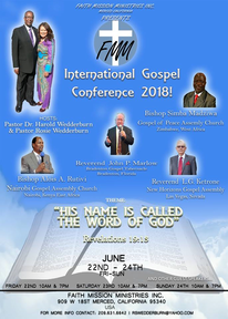 PRE SERVICE TO THE INTERNATIONAL GOSPEL CONFERENCE 2018